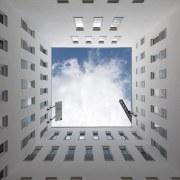 569 firestation architecture, building, daylighting, daytime, sky, wall, gray, white