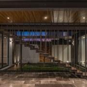 Colima home/Di Frenna Arquitectos architecture, lobby, black, brown
