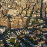 Jon Bon Jovi's new apartment in NYC – aerial photography, bird's eye view, city, cityscape, daytime, historic site, landmark, metropolis, metropolitan area, neighbourhood, residential area, sky, skyline, suburb, tower block, town, urban area, brown, black
