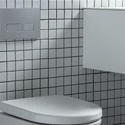 Thepowderoom Inwall Cistern Plate Silver 03 floor, plumbing fixture, product, tile, toilet, gray