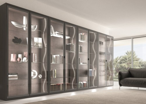 Domus Line Flexible Side Emitting Se H4 Led door, furniture, interior design, shelving, wardrobe, gray