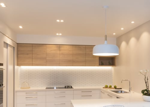 Lighting Plus Header Hero - ceiling | home ceiling, home, interior design, kitchen, lighting, product design, real estate, room, gray
