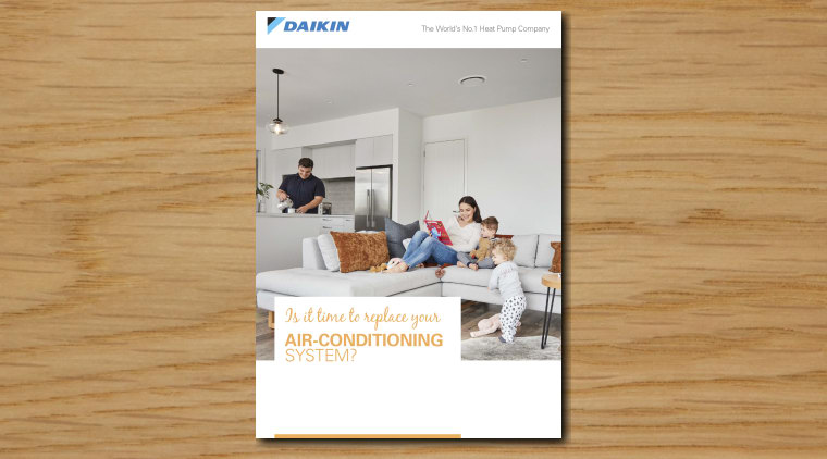 Pages From Daikin Brochure couch, furniture, home, interior design, product, table, white
