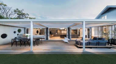 78580_louvretec-new-zealand-ltd_1557360101 - architecture | building | courtyard | architecture, building, courtyard, estate, facade, home, house, interior design, patio, porch, property, real estate, roof, room, shade, gray