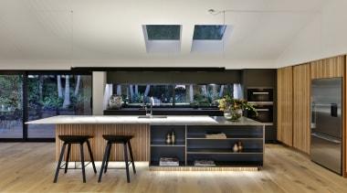 Front view - countertop | interior design | countertop, interior design, kitchen, gray, black