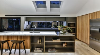 Half Moon Bay - countertop | interior design countertop, interior design, kitchen, gray, black