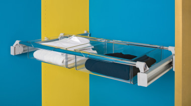 Innovative multi-purpose systemPull out wardrobe storage - order product, table, teal