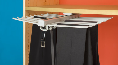 Convenient trouser hanger system combined with pull out. furniture, black