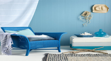 Bring The Beach Home - azure | bed azure, bed, bed frame, bed sheet, bedroom, blue, chair, duvet cover, furniture, home, interior design, product, room, wall, teal, white