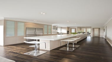 Remuera - ceiling   floor   flooring   ceiling, floor, flooring, furniture, interior design, kitchen, real estate, table, gray