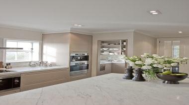 Remuera - countertop   cuisine classique   floor countertop, cuisine classique, floor, flooring, home, interior design, kitchen, real estate, room, window, gray