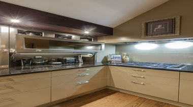 Mission Bay - apartment | cabinetry | countertop apartment, cabinetry, countertop, cuisine classique, home, interior design, kitchen, real estate, room, under cabinet lighting, brown, gray