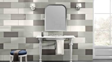 Calx Ghiaccio Perla Antracite 100x300 - bathroom | bathroom, bathroom accessory, bathroom cabinet, ceramic, floor, flooring, interior design, plumbing fixture, product, sink, tap, tile, wall, gray, white
