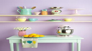 Candy Sweet - blue | ceramic | furniture blue, ceramic, furniture, interior design, purple, shelf, shelving, table, wall, yellow, purple