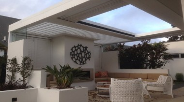 Concertina Retractable Louvre Roof - ceiling | daylighting ceiling, daylighting, house, interior design, property, real estate, roof, shade, window, gray, black