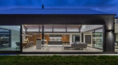 Winner – Leonie Metge – Cube Dentro – architecture, building, design, facade, home, house, interior design, property, real estate, roof, shade, sky, black