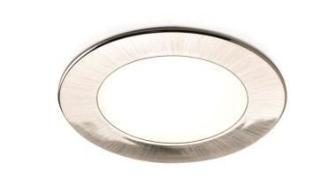 DOMUS LINE Atom 24Vdc Spotlight in Satin Nickel silver, white