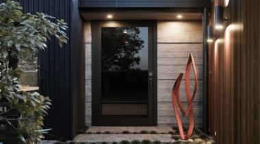 Stylish and sleek, the flush glazed door will door, home, window, black