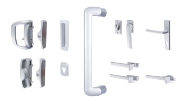 Stylish aluminium hardware that can be colour-matched to angle, door handle, font, hardware, hardware accessory, product, white