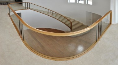 Fowler Homes - chair | furniture | handrail chair, furniture, handrail, plywood, stairs, table, gray