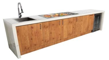 Gasmate Luxury Outdoor Kitchens - furniture | plumbing furniture, plumbing fixture, sideboard, sink, white