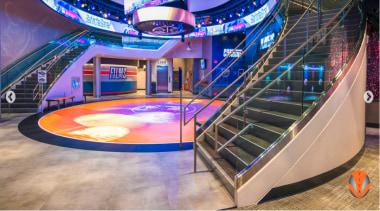 Architectural Bent Glass - NBA Disneyland Orlando -