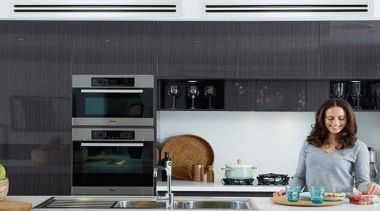 Heat Or Cool Your Entire Home - countertop countertop, home appliance, interior design, kitchen, kitchen appliance, microwave oven, black