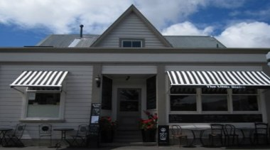 The Robusta Awning is ideal as achicwindow awning.Designed building, facade, home, house, property, real estate, roof, siding, window, black, gray