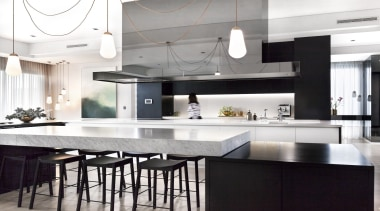 Leon House Design – Highly Commended – TIDA countertop, cuisine classique, interior design, kitchen, white, black