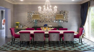 French classic-style residence by Massimo Interiors chair, dining room, furniture, interior design, room, table, wall, gray