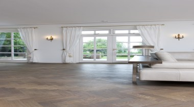 Oak Herringbone Oiled Parquet Wood Floor - ceiling ceiling, daylighting, floor, flooring, hardwood, home, house, interior design, laminate flooring, living room, real estate, room, tile, window, wood, wood flooring, gray