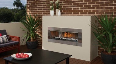 Outdoor Gas Fires - fireplace | hearth | fireplace, hearth, heat, brown, gray