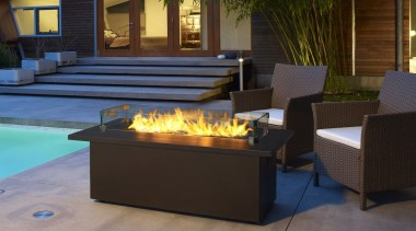 Outdoor Gas Fires - fireplace | furniture | fireplace, furniture, hearth, lighting, patio, table, black