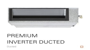 Premium Inverter Ducted - product   white product, white