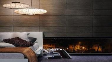 Replicating Stone Brick And Wood - ceiling | ceiling, floor, flooring, interior design, lamp, light fixture, lighting, lighting accessory, living room, table, wall, black