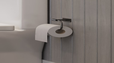 LeVivi Luisa roll holder - angle | bathroom angle, bathroom accessory, bathroom sink, ceramic, plumbing fixture, tap, gray