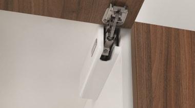 Salice's Wind is an elegant, unobtrusive overhead lift furniture, shelf, wood, gray, brown