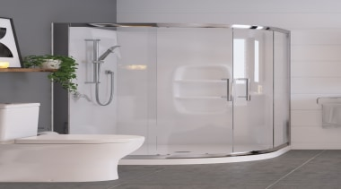 • 10 year warranty• 1000 x 1000mm• European angle, bathroom, plumbing fixture, shower door, tap, gray