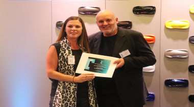 Lara Farmilo - Akzente/Poggenpohl and David Johnson award, award ceremony, event, gray