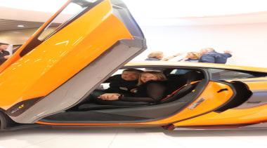 Brendan Hamill - David Reid Homes  and automotive design, car, concept car, lamborghini, lamborghini aventador, land vehicle, motor vehicle, sports car, supercar, vehicle, vehicle door, yellow, white, orange