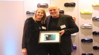 David Johnson and Leonie Metge - award | award, event, job, white, black