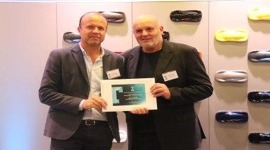 Shane George with David Johnson - award | award, event, job, white, black
