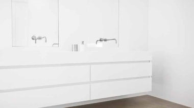 Bathroom Accessories. Formani One Bathware by Oiet Boon. bathroom, bathroom accessory, bathroom cabinet, bathroom sink, chest of drawers, drawer, furniture, plumbing fixture, product, sink, tap, wall, white, white