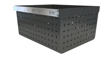 Tanova Ventilated Drawer 450Mm Cab 500Mm Deep 293Mm chest, furniture, white, black
