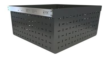 Tanova Ventilated Drawer 600Mm Cab 500Mm Deep 293Mm chest, furniture, white, black