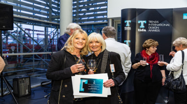 2019 TIDA New Zealand Homes presentation evening display device, event, job, product, technology, tourism, black