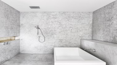 Renato D'Ettore Architects – Winner – TIDA Australia angle, architecture, bathroom, black and white, floor, interior design, plumbing fixture, room, tap, tile, wall, white