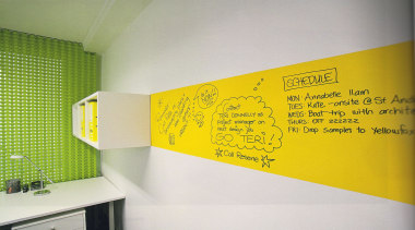 Write All Over Your Walls Without Damaging Them yellow, white