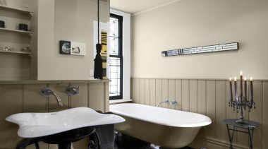 Bathroom 2 Thorndon Cream Napa Panels - bathroom bathroom, interior design, plumbing fixture, room, sink, gray