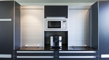 Havelock North Kitchen - Havelock North Kitchen - furniture, home appliance, interior design, kitchen, product, product design, black, white, gray